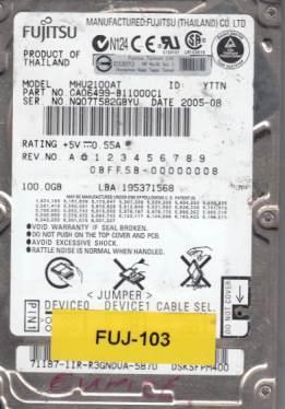 Fujitsu MHU2100AT 100GB
