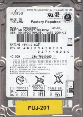 Fujitsu MHT204RAH 40GB