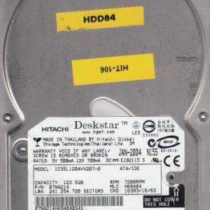 Hitachi IC35L120AVV207-0 123.5GB