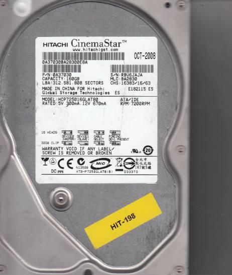 Hitachi HCP725016GLAT80 160GB