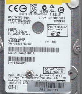 Hitachi HTS727550A9E364 500GB