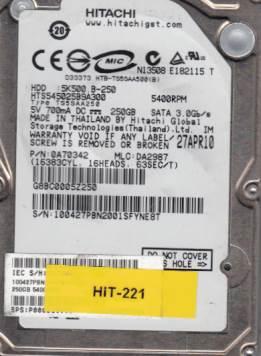 Hitachi HTS545025B9A300 250GB