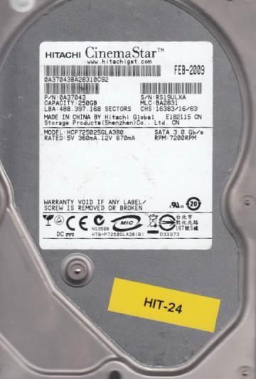 Hitachi HCP725025GLA380 250GB