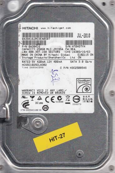 Hitachi HCS5C1025CLA382 250GB