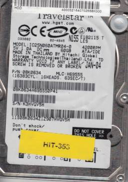 Hitachi IC25N060ATMR04-0 60GB
