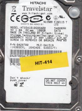 Hitachi HTS541010G9SA00 100GB