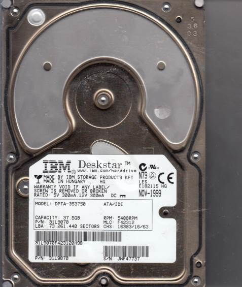 Hitachi DPTA-353750 37.5GB