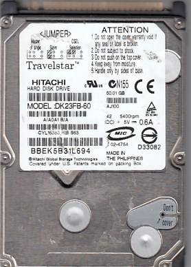 Hitachi DK23FB-60 60GB