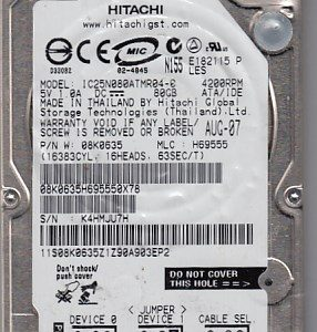 Hitachi IC25N080ATMR04-0 80GB
