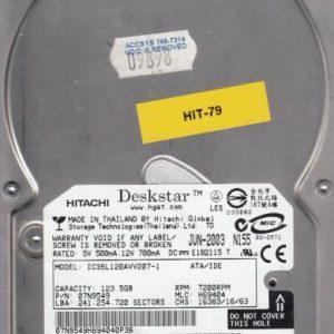 Hitachi IC35L120AVV207-1 123.5GB
