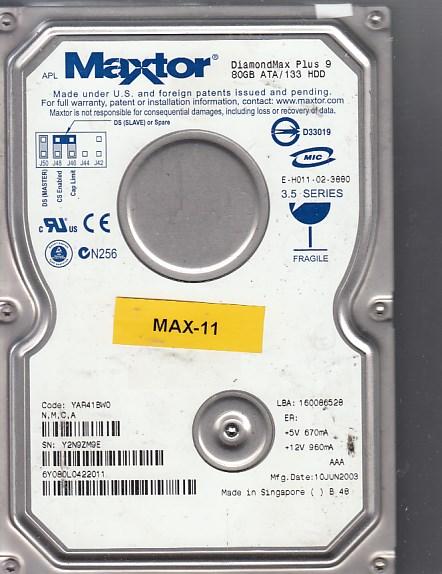 Maxtor 6Y080L0 80GB Y2N9ZM9E