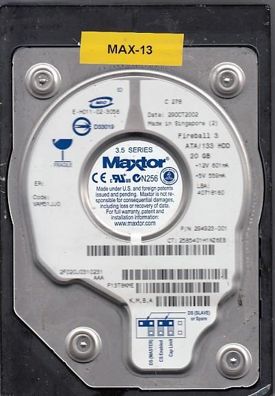 Maxtor 2F020J0 20GB