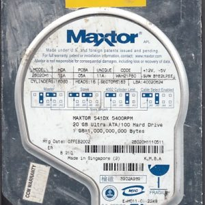 Maxtor 2B020H1 20GB