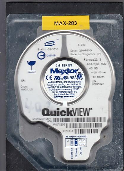 Maxtor 2F040L0 40GB