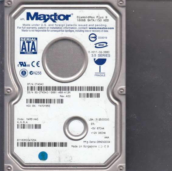 Maxtor DIAMONDMAX PLUS 9 160GB