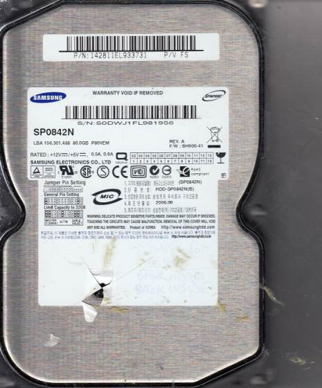 Samsung SP0842N 80GB