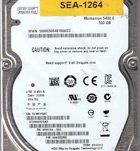 Seagate S2WFYQ6C 500GB