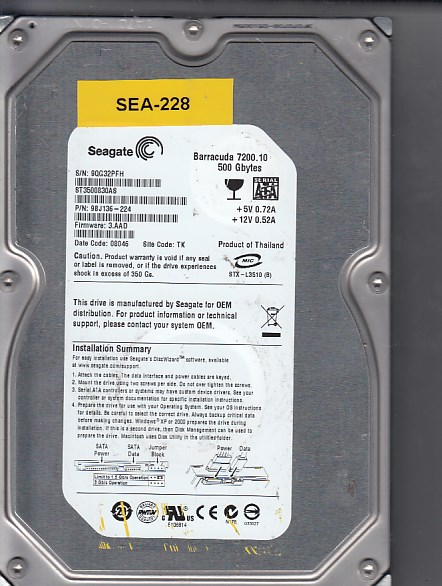 Seagate ST3500830AS 500GB