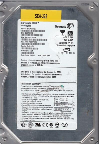 Seagate ST340014A 40GB