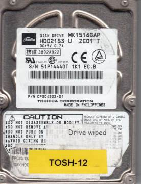 Toshiba MK1516GAP 15GB