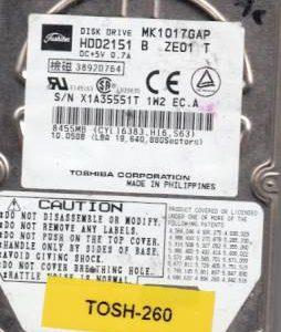 Toshiba MK1017GAP 10GB