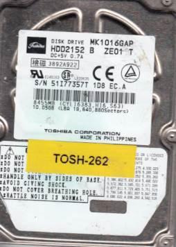Toshiba MK1016GAP 10GB