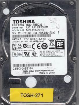 Toshiba MQ01ABD032 320GB