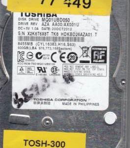 Toshiba MQ01UBD050 500GB