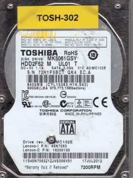 Toshiba MQ5061GSY 500GB