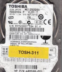 Toshiba MK1252GSX 120GB