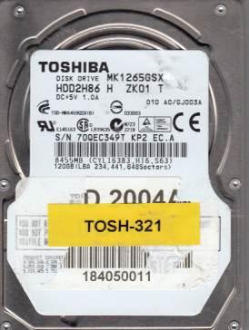Toshiba MK1265GSX 120GB