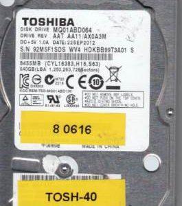 Toshiba MQ01ABD064 640GB