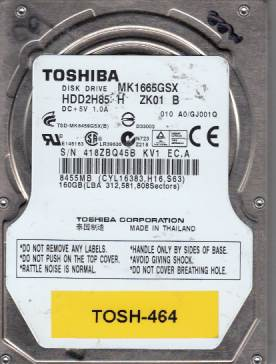 Toshiba MK1665GSX 160GB