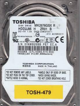 Toshiba MK2576GSX 160GB