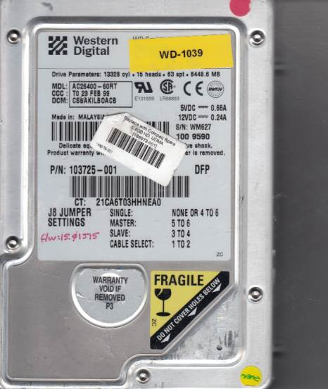 Western Digital AC26400-60RT 6GB