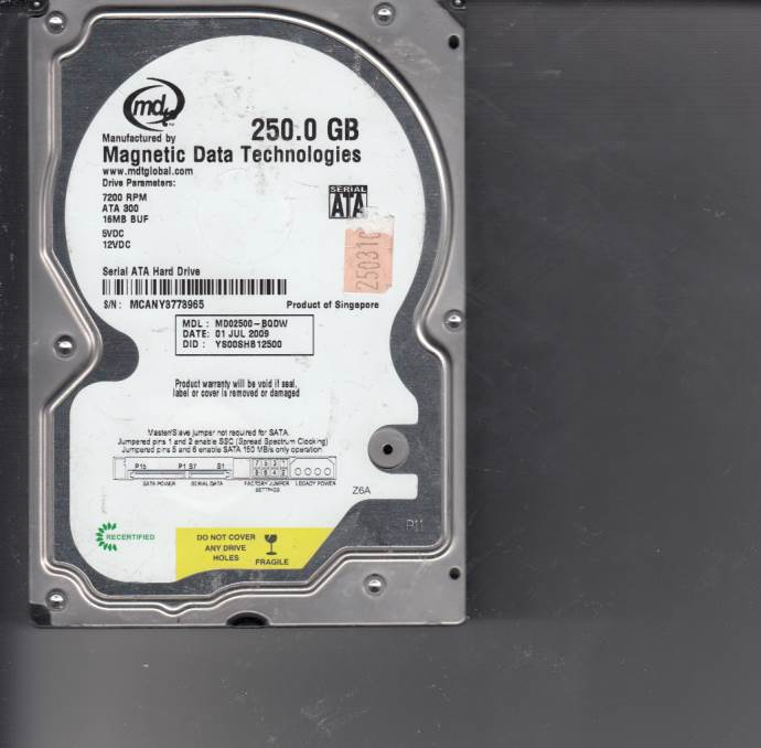 Western Digital MD02500-BQDW 250GB
