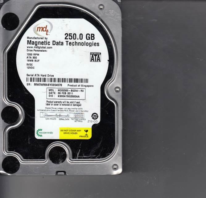 Western Digital MD02500-BQDW-R0 250GB