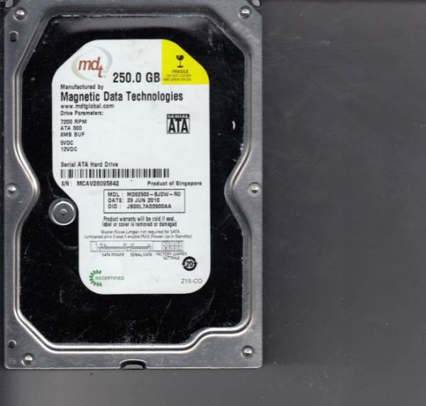 Western Digital MD02500-BJDW-R0 250GB