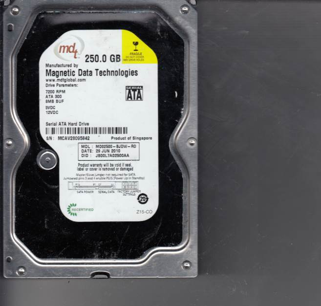 Western Digital MD02500-BJDW-R0 250GB