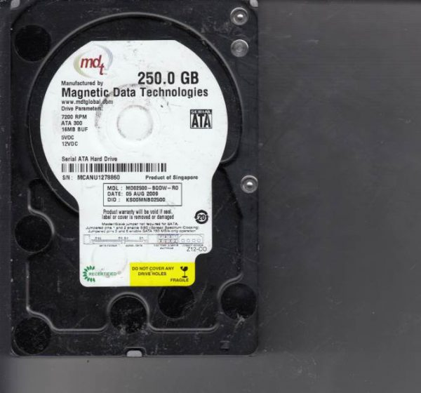 Western Digital MD02500-BQDW-R0 250GB