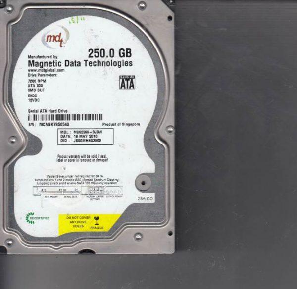 Western Digital MD02500-BJDW 250GB