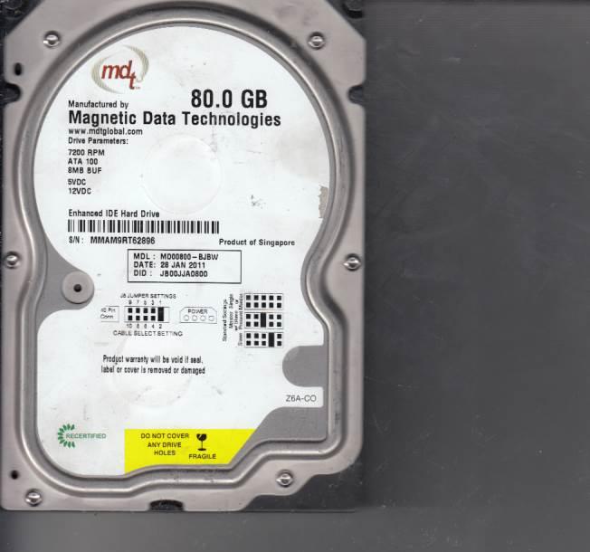 Western Digital MD00800-BJBW 80GB