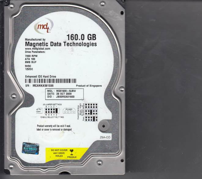 Western Digital MD01600-BJBW 160GB