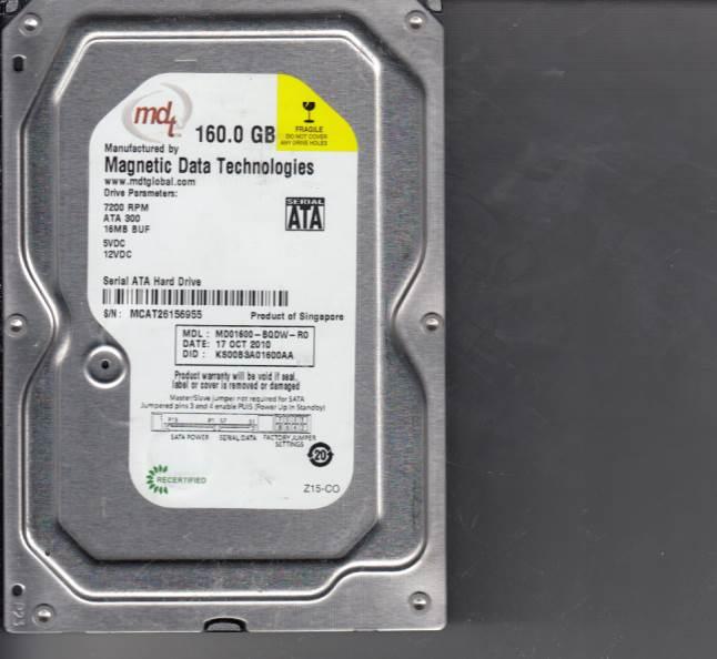 Western Digital MD01600-BQDW-R0 160GB