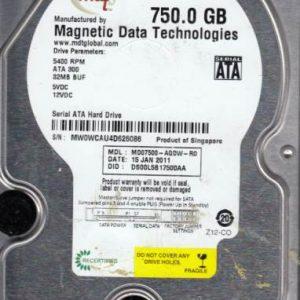 Western Digital MD07500-AQDW-R0 750GB