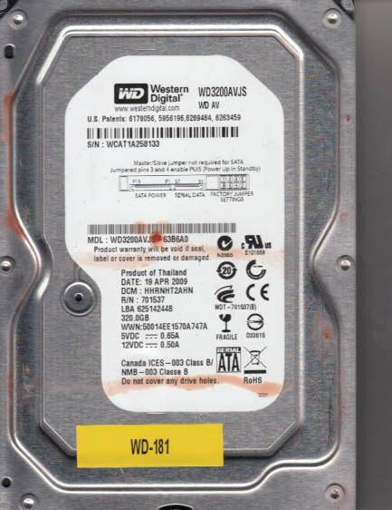 Western Digital WD3200AVJS-63B6A0 320GB