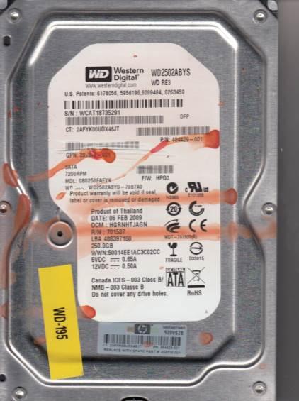 Western Digital GB0250EAFYK 250GB