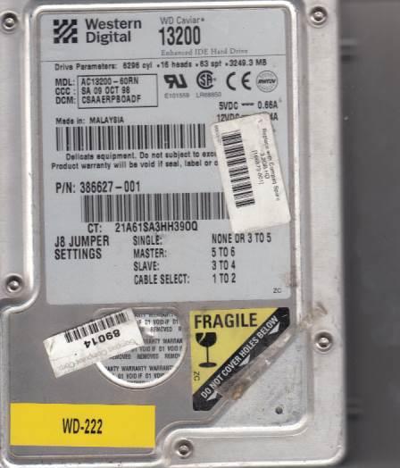 Western Digital AC13200-60RN 3249MB