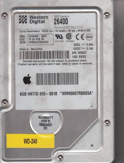 Western Digital AC26400-40RT 6448MB
