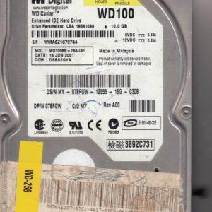 Western Digital WD100BB-75AUA1 10GB